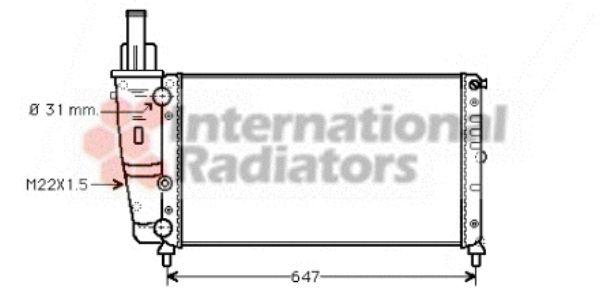 Radiateur, refroidissement du moteur - VAN WEZEL - 17002141