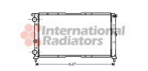 Radiateur, refroidissement du moteur - VAN WEZEL - 17002142