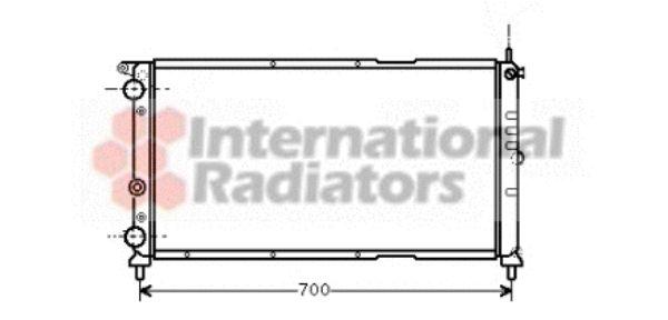 Radiateur, refroidissement du moteur - VAN WEZEL - 17002143