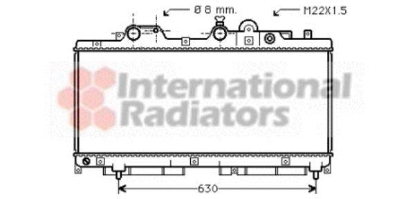 Radiateur, refroidissement du moteur - VAN WEZEL - 17002147