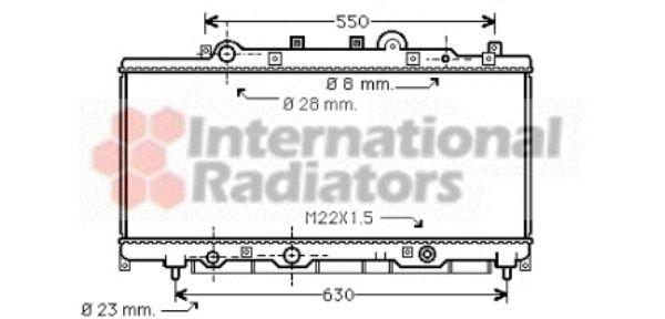 Radiateur, refroidissement du moteur - VAN WEZEL - 17002149