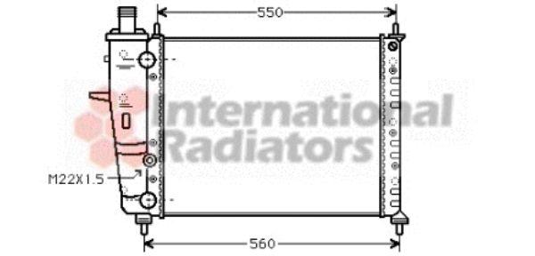 Radiateur, refroidissement du moteur - VAN WEZEL - 17002159