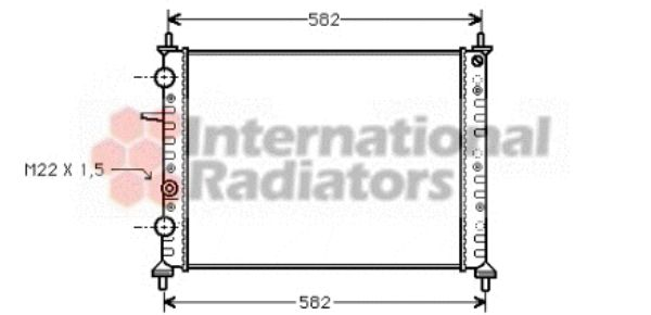 Radiateur, refroidissement du moteur - VAN WEZEL - 17002161