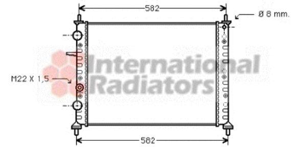 Radiateur, refroidissement du moteur - VAN WEZEL - 17002162