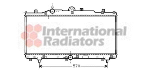 Radiateur, refroidissement du moteur - VAN WEZEL - 17002166