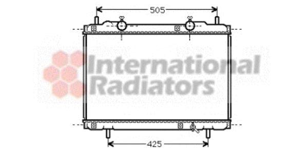 Radiateur, refroidissement du moteur - VAN WEZEL - 17002167