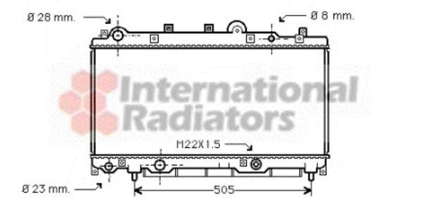 Radiateur, refroidissement du moteur - VAN WEZEL - 17002181
