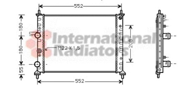 Radiateur, refroidissement du moteur - VAN WEZEL - 17002182
