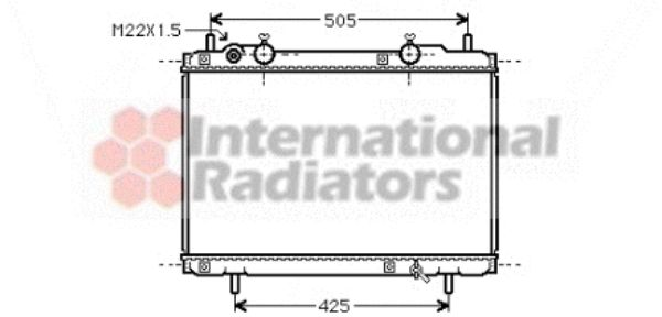 Radiateur, refroidissement du moteur - VAN WEZEL - 17002184