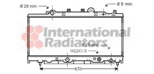 Radiateur, refroidissement du moteur - VAN WEZEL - 17002199