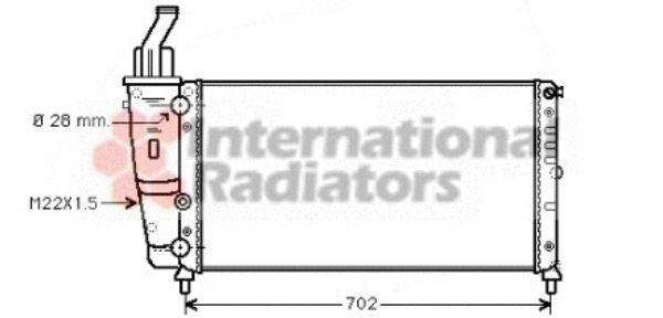 Radiateur, refroidissement du moteur - VAN WEZEL - 17002200