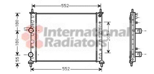 Radiateur, refroidissement du moteur - VAN WEZEL - 17002201
