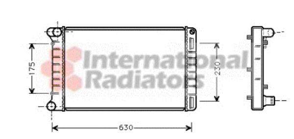Radiateur, refroidissement du moteur - VAN WEZEL - 17002210