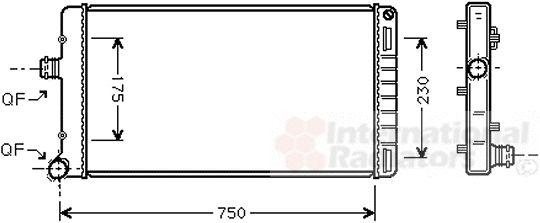 Radiateur, refroidissement du moteur - VWA - 88VWA17002211