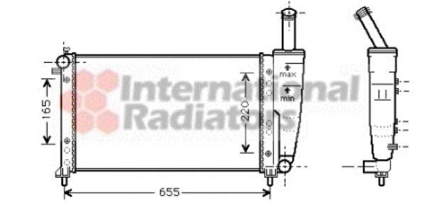 Radiateur, refroidissement du moteur - VAN WEZEL - 17002218