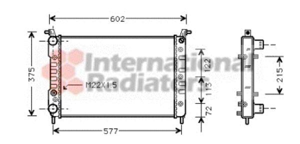 Radiateur, refroidissement du moteur - VAN WEZEL - 17002224