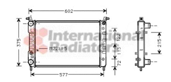 Radiateur, refroidissement du moteur - VAN WEZEL - 17002225