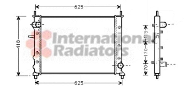 Radiateur, refroidissement du moteur - VAN WEZEL - 17002227