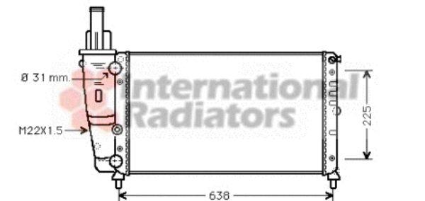 Radiateur, refroidissement du moteur - VAN WEZEL - 17002228