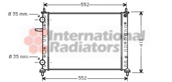 Radiateur, refroidissement du moteur - VAN WEZEL - 17002229