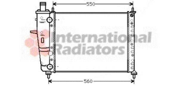 Radiateur, refroidissement du moteur - VAN WEZEL - 17002230
