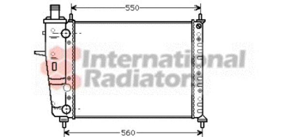 Radiateur, refroidissement du moteur - VAN WEZEL - 17002233