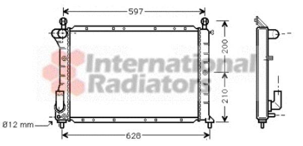 Radiateur, refroidissement du moteur - VAN WEZEL - 17002235