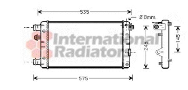 Radiateur, refroidissement du moteur - VAN WEZEL - 17002239