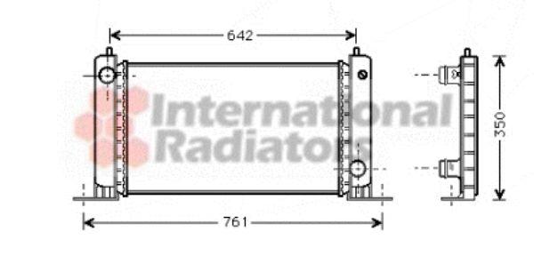 Radiateur, refroidissement du moteur - VAN WEZEL - 17002243