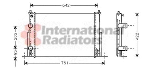 Radiateur, refroidissement du moteur - VAN WEZEL - 17002244