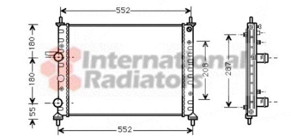 Radiateur, refroidissement du moteur - VAN WEZEL - 17002249