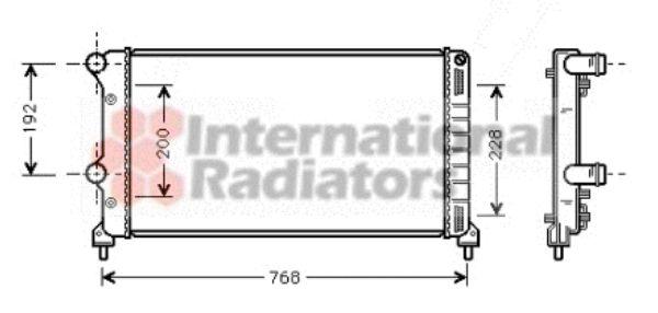 Radiateur, refroidissement du moteur - VAN WEZEL - 17002250