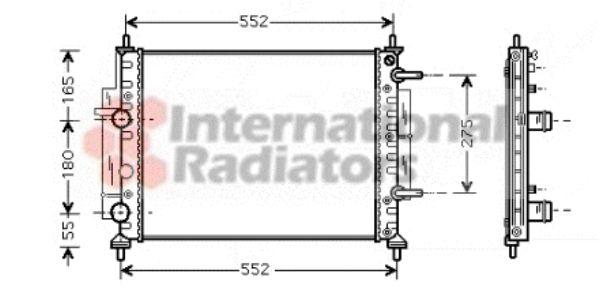 Radiateur, refroidissement du moteur - VAN WEZEL - 17002260