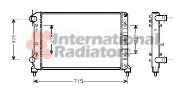 Radiateur, refroidissement du moteur - VAN WEZEL - 17002261