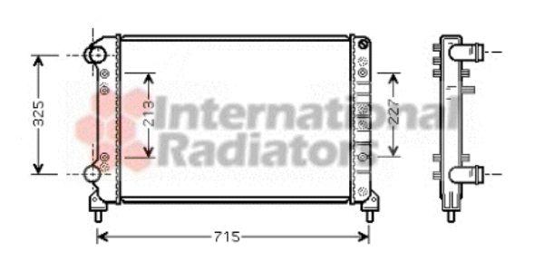 Radiateur, refroidissement du moteur - VAN WEZEL - 17002262