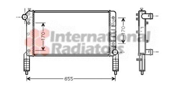 Radiateur, refroidissement du moteur - VAN WEZEL - 17002263