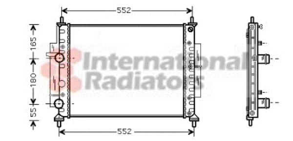 Radiateur, refroidissement du moteur - VAN WEZEL - 17002268