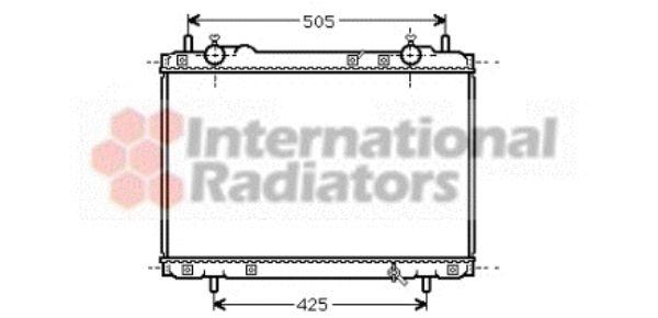 Radiateur, refroidissement du moteur - VAN WEZEL - 17002270