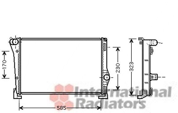 Radiateur, refroidissement du moteur - VAN WEZEL - 17002279