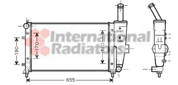 Radiateur, refroidissement du moteur - VAN WEZEL - 17002281