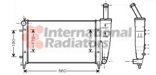 Radiateur, refroidissement du moteur - VAN WEZEL - 17002290