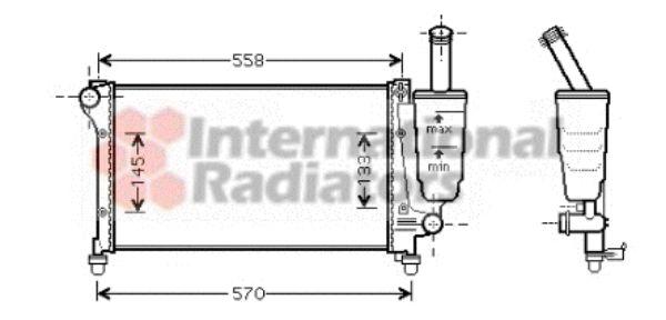 Radiateur, refroidissement du moteur - VAN WEZEL - 17002291
