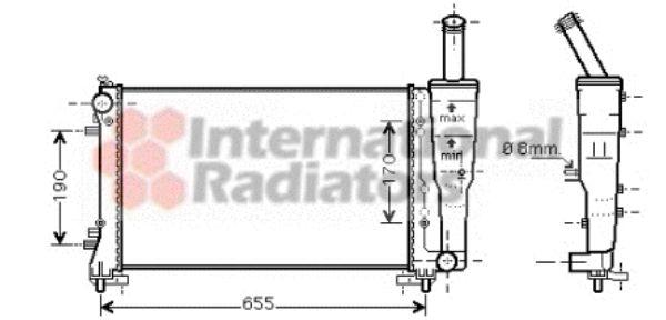 Radiateur, refroidissement du moteur - VAN WEZEL - 17002297