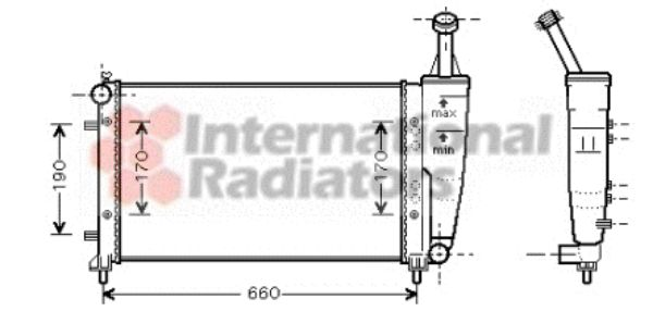 Radiateur, refroidissement du moteur - VAN WEZEL - 17002300