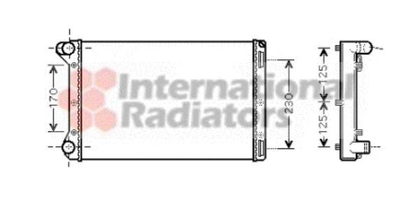 Radiateur, refroidissement du moteur - VAN WEZEL - 17002301