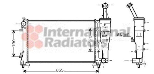 Radiateur, refroidissement du moteur - VAN WEZEL - 17002308