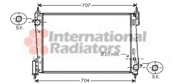 Radiateur, refroidissement du moteur - VAN WEZEL - 17002311
