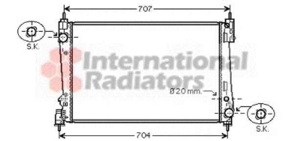 Radiateur, refroidissement du moteur - VAN WEZEL - 17002312