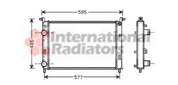 Radiateur, refroidissement du moteur - VAN WEZEL - 17002316