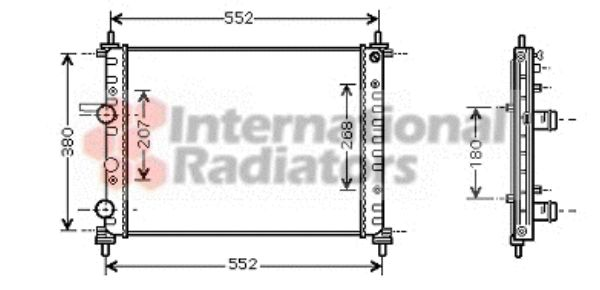 Radiateur, refroidissement du moteur - VAN WEZEL - 17002317